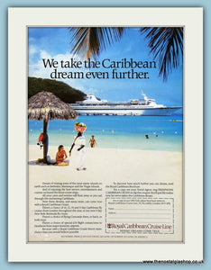 Royal Caribbean Cruise Line Original Advert 1980's (ref AD2313)