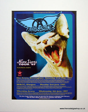 Aerosmith Set of 3 Original Adverts 1997 Nine Lives Tour (ref AD913)