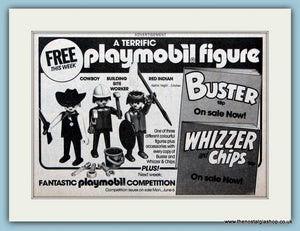 Playmobile Figures Competition Original Advert 1983 (ref AD6392)