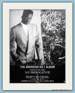 Bobby Brown Don't Be Cruel Set Of 2 Original Music Adverts 1988 (ref AD3454)