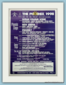 The Phoenix Festival Advert 1998 (ref AD3354)