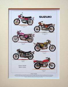 Suzuki  Motorcycles  Mounted print