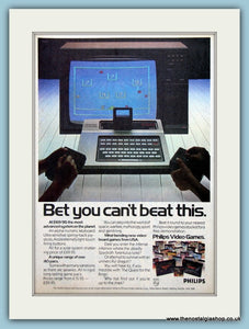 Philips Video Games Original Advert 1982 (ref AD6423)