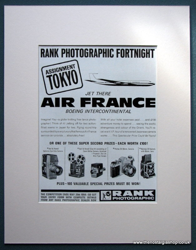 Air France Photographic Fortnight 1964 Original Advert (ref AD1083)