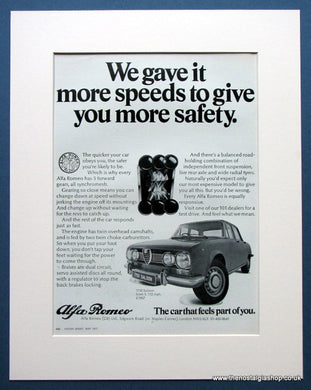 Alfa Romeo 1750 Saloon & GT Veloce. 2 x Original adverts 1971 (ref AD1430)