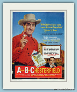 Chesterfield Cigarettes Original Advert 1950 (ref AD8312)