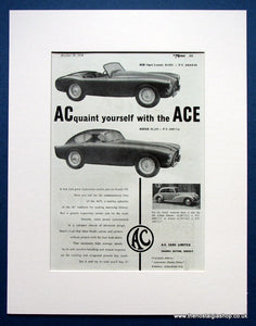 AC Ace 2 Seater and 2 Door Saloon 1954 Original Advert (ref AD1447)