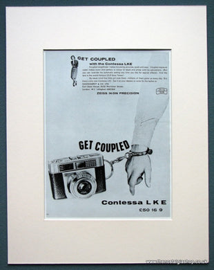 Contessa LKE Camera 1963 Original Advert (ref AD1074)