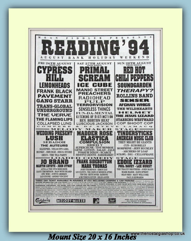 Reading Festival August 1994 Original Advert (ref AD9007)