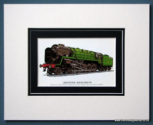 British Railways 'Evening Star' Mounted Print (ref SP34)