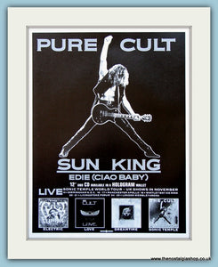 The Cult Sun King Original Advert 1989 Tour Dates ref AD4106)