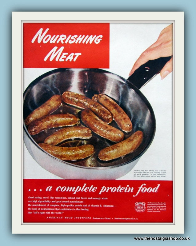 Meat. Original Advert 1947 (ref AD8184)