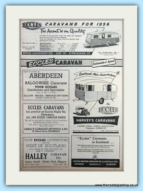 Eccles Caravans Original Advert 1956 (ref AD6336)
