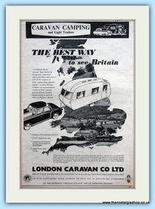London Caravan Company Original Advert 1954 (ref AD6361)