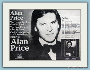 Alan Price Nov/Dec Tour Original Advert 1977 (ref AD2098)