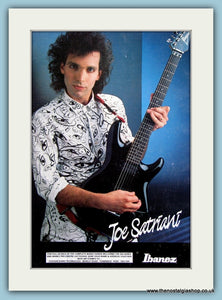 Ibanez Guitars Joe Satriani Original Advert 1989 (ref AD2733)