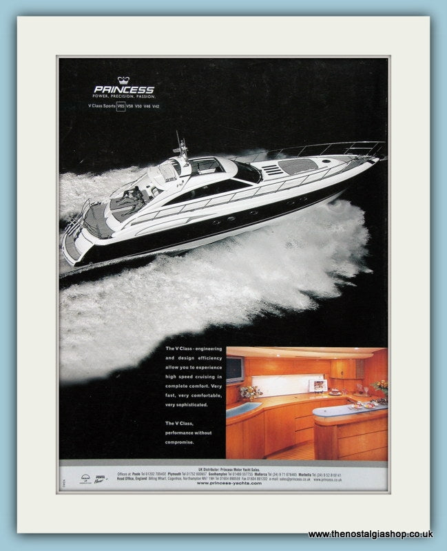 Princess Power Boat V65 Original Advert 2004 (ref AD2325)