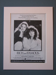 Rich and Famous Original Advert (ref AD 478)