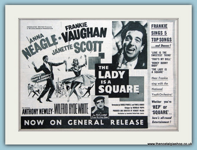 The Lady Is A Square, 1959 Original Film Advert (ref AD3329)