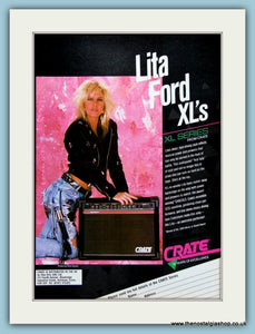 Lita Ford XL's Amps. Original Advert 1989 (ref AD2701)