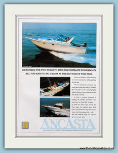 Ancasta Power Boat Original Advert 1989 (ref AD2329)