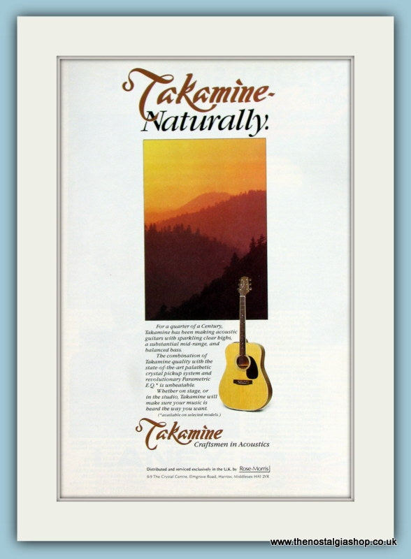 Takamine Acoustic Guitars. Original Advert 1990 (ref AD2196)