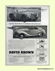 Aston Martin David Brown Original Advert 1952 (ref AD6704)