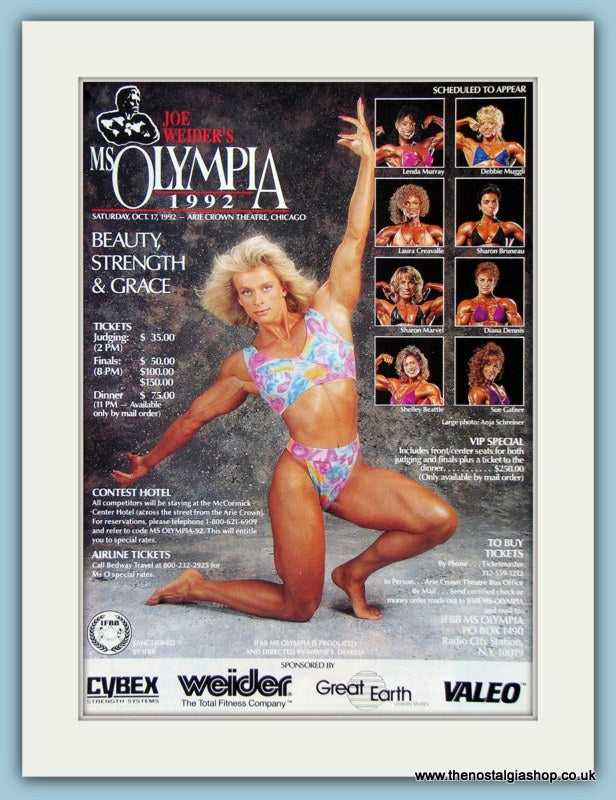 Joe Weider's Ms Olympia Original Advert 1992 (ref AD3922)