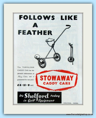 Stowaway Caddy Cars. Original Advert 1960 (ref AD4961)