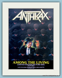 Anthrax Among The Living 1980's Original Advert (ref AD3049)