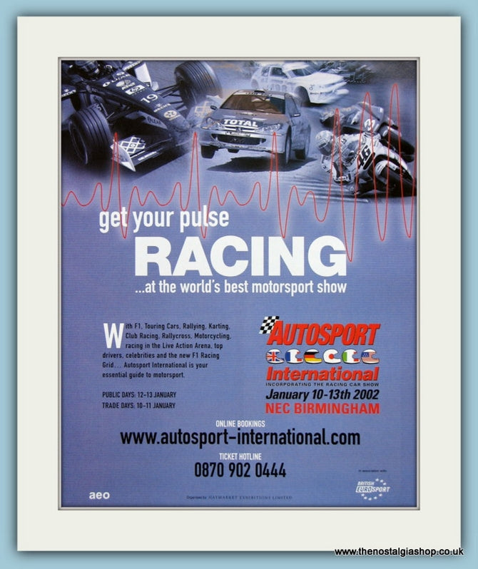 Autosport International, NEC Birmingham 2002 Original Advert (ref AD2012)