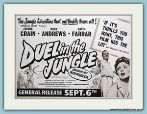 Duel In The Jungle, 1954 Original Advert (ref AD3231)
