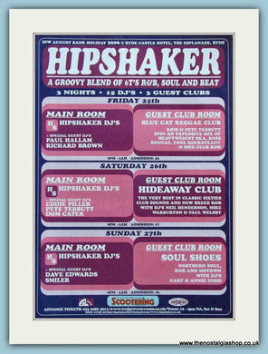 Hipshaker Scootering Music Event Original Advert 2006 (ref AD4178)