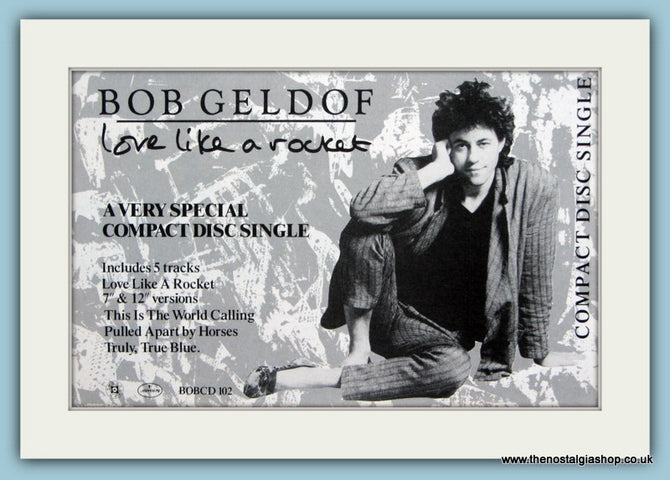 Bob Geldof Original Advert 1987 (ref AD1886)