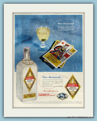 Gilbey's Dry Gin Original Advert 1954 (ref AD8225)