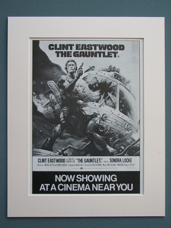 The Gauntlet 1978 Original advert (ref AD651)