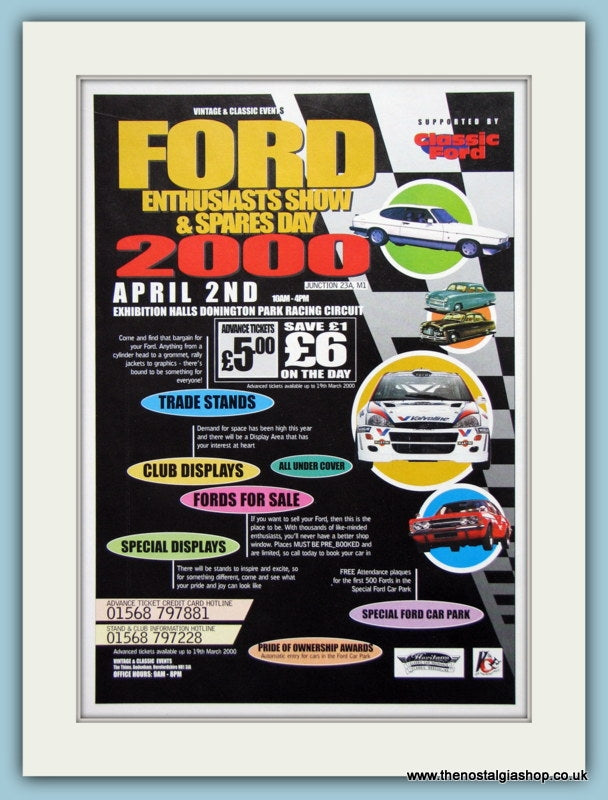 Ford Enthusiasts Show Donnington 2000. Original Advert (ref AD2049)