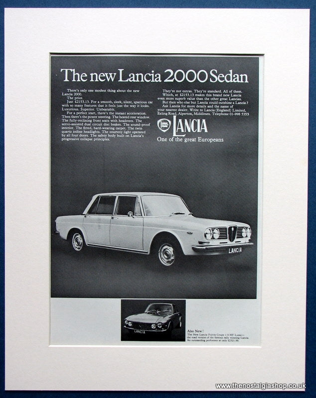 Lancia 2000 Sedan 1971 Original Advert (ref AD 1672)