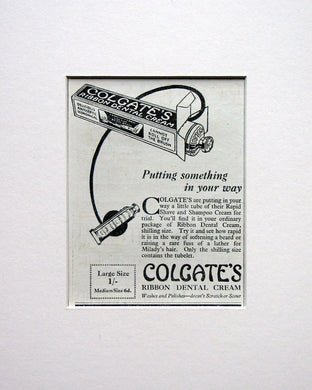 Colgate Ribbon Dental Cream Original advert 1924 (ref AD1562)