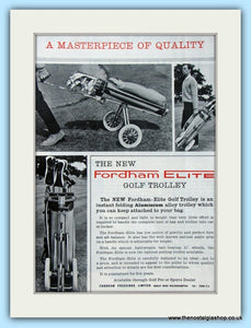 Fordham Elite Golf Trolley. Original Advert 1968 (ref AD4759)