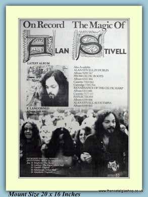 Alan Stivell The Magic Of Alan Stivell Original Advert 1976 (ref AD9282)