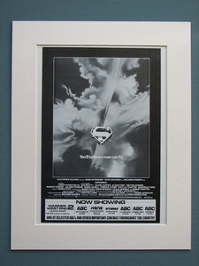 Superman I II & III set of 3 Original adverts (ref AD641)