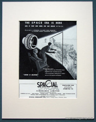 Spacial Cineramic 1963 Original Advert (ref AD1087)