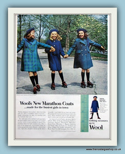 Wool Marathon Coats. Original Advert 1958 (ref AD8180)