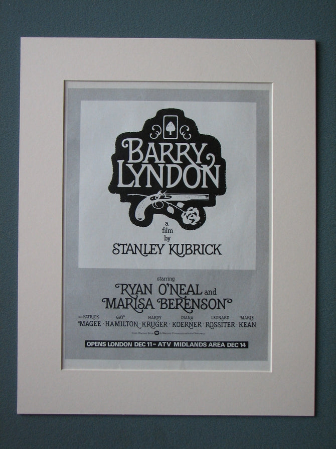 Barry Lyndon 1976 Original advert (ref AD495)