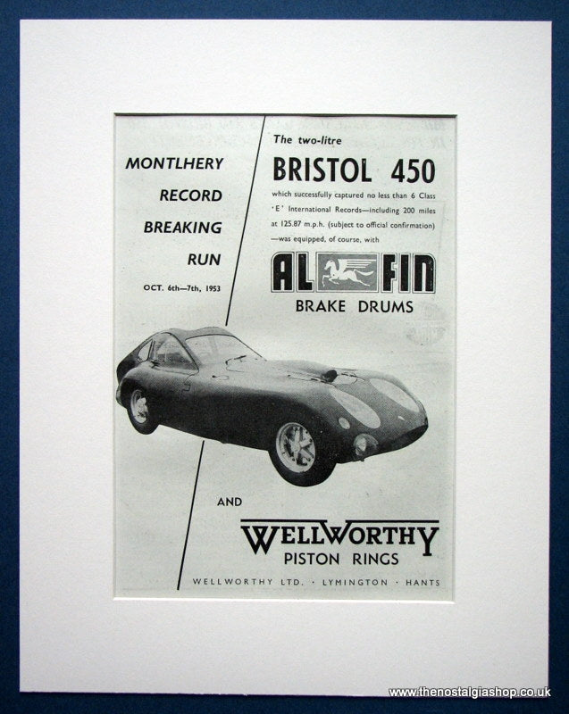 Bristol 450. Original advert 1953 (ref AD1393)