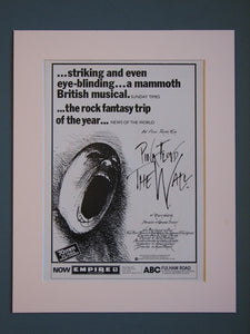 Pink Floyd The Wall  Original advert 1982  (ref AD410)