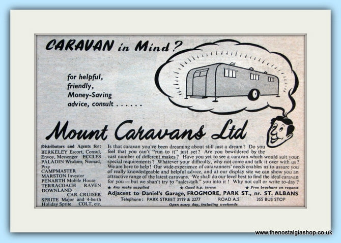 Mount Caravans Ltd Original Advert 1952 (ref AD5079)