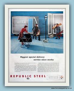 Republic Steel. Original Advert 1960 (ref AD8089)