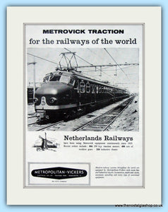 Metrovick Netherlands Railways Original Advert 1958 (ref AD6520)